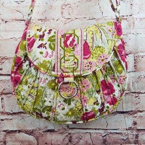 Vera Bradley Shoulder Saddle Up Bag Make Me Blush